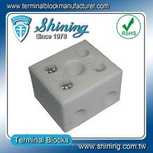 Conector de bloque de terminal de alambre de porcelana de cerámica resistente al calor
