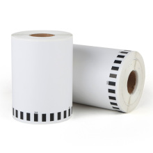 Etiquetas térmicas contínuas compatíveis com a Brother 102 mm x 30,48 m