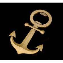 Antique Anchor Metal Gold Plated Bottle Opener (GZHY-BO-007)