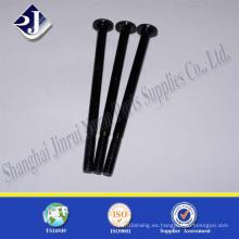 Tornillo de transporte largo (chapado en zinc negro Gr 5)