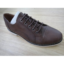 Brown Leather Mens Office Shoes Nx 524