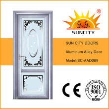 Mirror Tinted Glass Aluminum Doors Interior (SC-AAD089)
