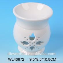 Elegent queimador de óleo de fragrância cerâmica branca