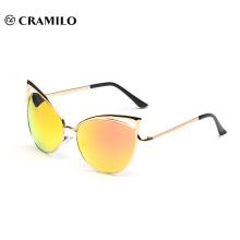 8041 mirror lens Brand design cat eye sunglasses
