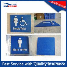 Custom Designed Toilet Signs with Braille