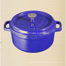 2.5L Emaille Gusseisen Holländischer Ofen Hersteller Dia 20cm