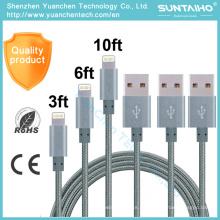 Cable rápido al por mayor del USB de los datos de la sincronización de carga para iPhone6 6s