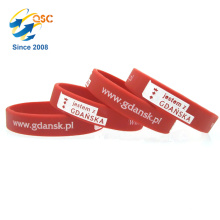 Cheapest silicone bracelet wristband Custom Printed Accessories