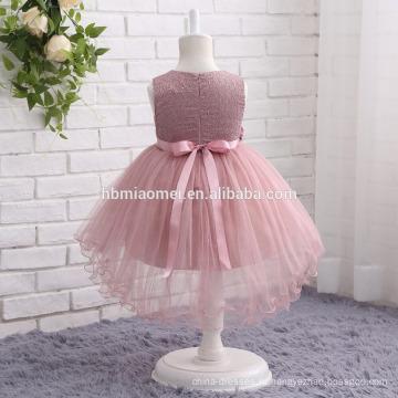 2017 новая мода красочные Западная партия носить платье без рукавов кружевной 2-летний девушка платье для свадьбы