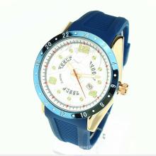Silicone de quartzo movimento silicone pulseira liga caso relógio