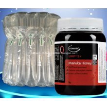 Colocação de coluna de ar para garrafas de mel