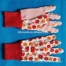FURUNDA Flower printted populares pvc dot revestido algodão jardim flores luvas com amostras grátis