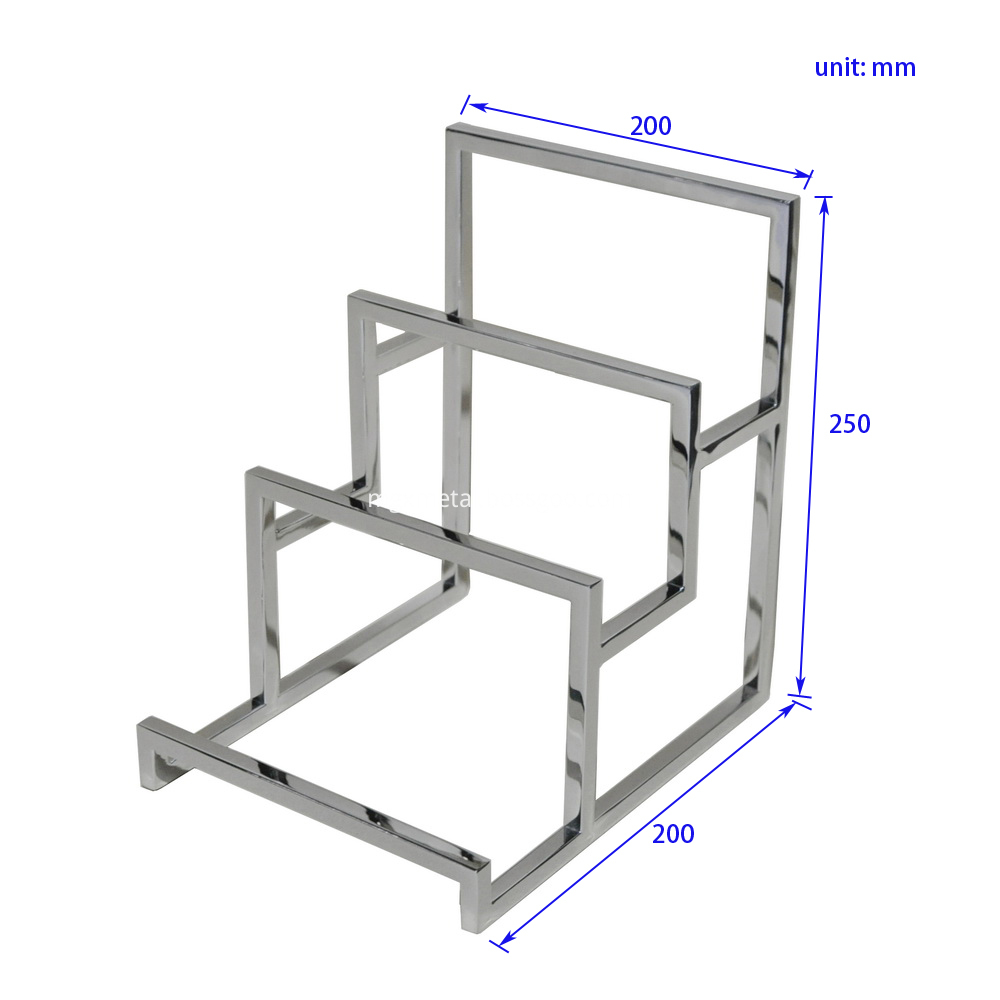 SSDT0007 10mm Square Solid Bar Wallet Display Rack Size