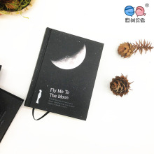 A6 Vintage New Tear Black Cardboard Hard Book Notebook para Paiting Drawing Diary Journal Creative Gift