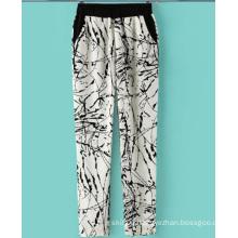 2015 New Style Printed Palazzo Cotton Women Pants