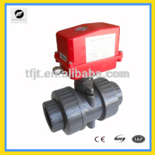 AC220V Water system plastic pvc motorized plastic ball valve for automatic control, water treatment