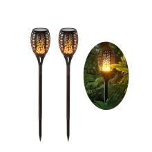 Waterproof Solar Light Breathing Flame Lamp, Outdoor Beautiful Decorative Garden Flame Torch Light