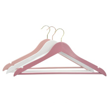 Custom boutique wooden coat hangers for wardrobe and closet and hotel