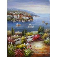Pinturas al óleo del mar Mediterráneo