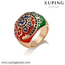 14384 оптом старинные стиль дамы ювелирные изделия подсолнуха лако-красочные палец кольцо
