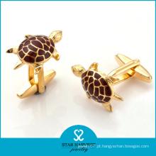 Tortoise em forma de ouro banhado em esmalte Men's Cufflinks (SH-BC0011)