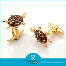 Abotoaduras banhado a ouro de forma animal bonito com logotipo Customed (BC-0011)