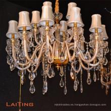 Cristal de restaurante tradicional europeo araña de cristal led LT-85367