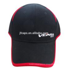 6 paneles con gorra de béisbol bordada