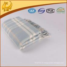 High Quality Factory Price Travel Throw Tartan Wholesale 100% couverture en os de hareng de laine