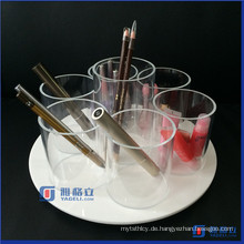 Spinning / Rotating Acryl Kosmetik / Makeup Organizer Pinselhalter