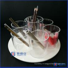 Spinning / Rotating Acrylic Cosmetic / Makeup Organizer Brush Holders