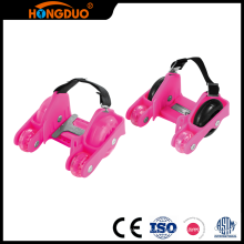 Quality Products 4 wheel retractable flashing roller skate for kids