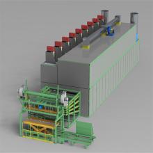Secador de rodillo de chapa tipo generador de aire caliente