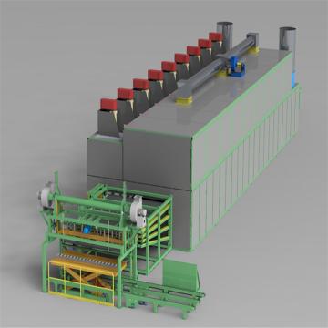 Séchoir à rouleaux de placage de type générateur d'air chaud