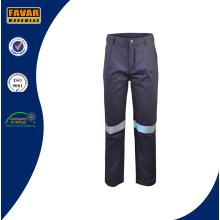 100% algodón pantalones de trabajo de perforación con En471 cintas reflectantes