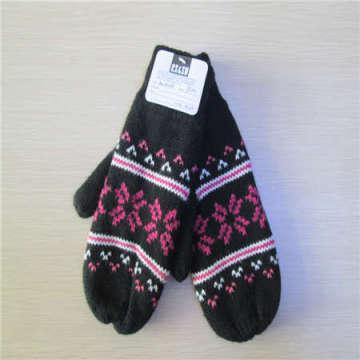 Зимние перчатки с жаккардовые переплетения
