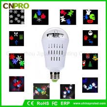 LED-Projektor Ratating Birne Licht für Garten Wand Urlaub Party Dekorationen