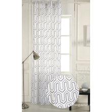 100% polyester rideaux de fenêtre de broderie