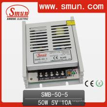 Fuente de alimentación de conmutación de caja plástica 50W 5V 10A Ultra delgada