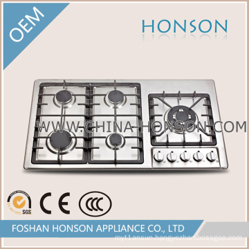 Professional Factory Cast Iorn Built in Stainless Steel Gas Hob