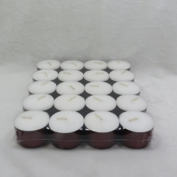 Candela in tealight bianco 14g Unscented 4 ore
