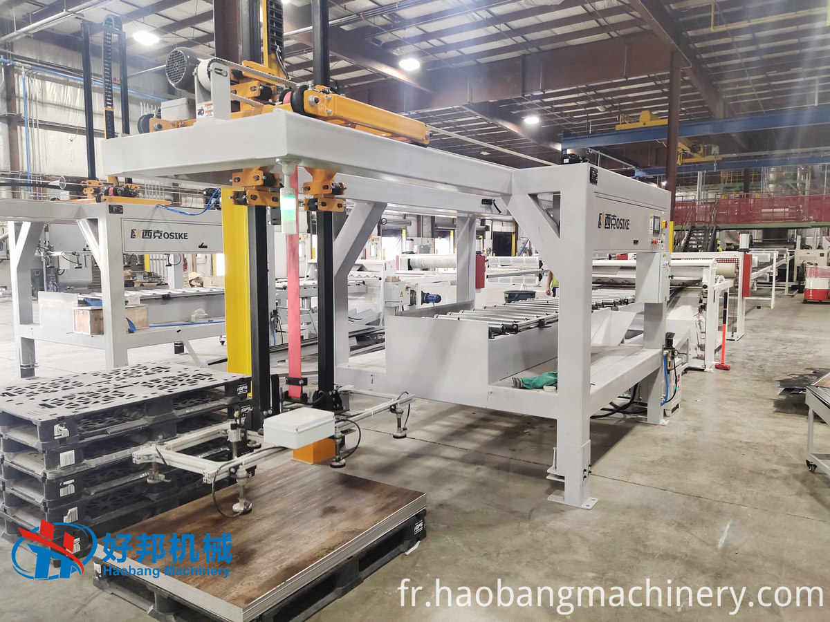 SPC floor auto stacker machine