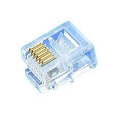 Plugue modular não blindado de cristal 6P6C