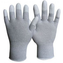 Gant de sécurité en cuir revêtu blanc PU Nmsafety Palm Fit PPE