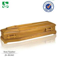 Fabricant chinois standard européen de manches en bois pour revêtement de cercueil
