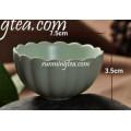 Tradicional, lótus, forma, chinês, porcelana, chá, copo