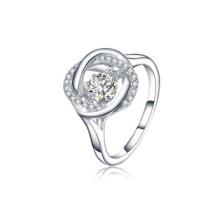Anillos de Plata Infinity 925 Joyería de Plata con Diamante Bailando