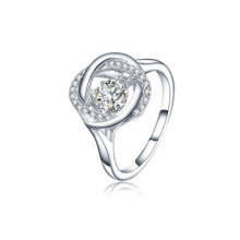 Infinity Silver Rings 925 Silver Jewelry with Dancing Diamond