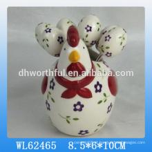 Atacado easter decor cerâmica fruteira garfo conjunto