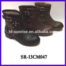 SR-13CM047 soft kids boots winter child boot fashion flat kids boot